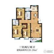 晋开清水湾3室2厅2卫120平方米户型图