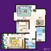 天赐椿城一期嘀嗒2室2厅1卫83平方米户型图