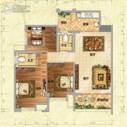 慧川温莎国际3室2厅2卫115平方米户型图