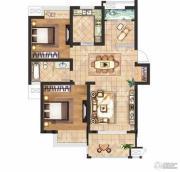 京河湾公寓2室2厅1卫90--95平方米户型图