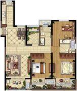 金地湖城艺境4室2厅2卫118平方米户型图
