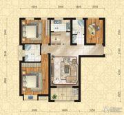 东方今典中央城3室2厅2卫122平方米户型图