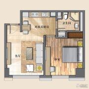 开封国际金融中心1室1厅1卫73平方米户型图