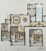 中梁・首府壹号3室2厅2卫165平方米户型图