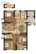 鸿�Z园3室2厅1卫118平方米户型图