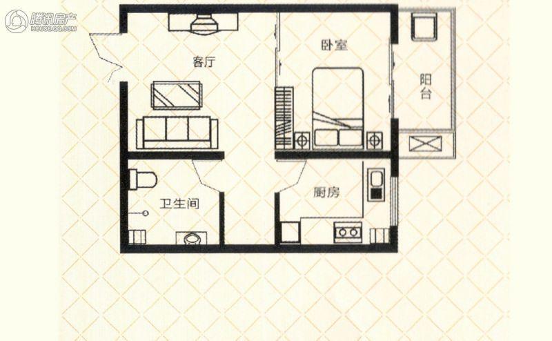 砥柱大厦C-1 1室1厅1卫1厨50㎡