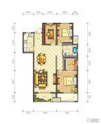 佳源巴黎都市3室2厅1卫105平方米户型图