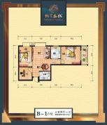 柳岸春城3室2厅1卫86平方米户型图