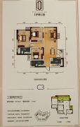 寅吾伊顿公馆3室2厅2卫89--103平方米户型图