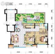 兴庆府大院2室2厅1卫98平方米户型图