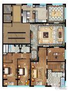 首创天禧3室3厅3卫385平方米户型图