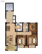 龙湖滟澜海岸(海与城)3室1厅1卫88平方米户型图