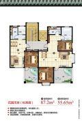 天境昆嵛中国院子2室1厅1卫55--87平方米户型图