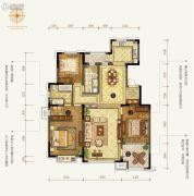 中信云邸3室2厅2卫162--165平方米户型图