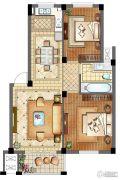 滨江丽景2室2厅1卫89平方米户型图