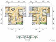 泾渭分明生态半岛3室2厅2卫154平方米户型图