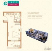 廊坊孔雀城・公园海1室0厅1卫38平方米户型图