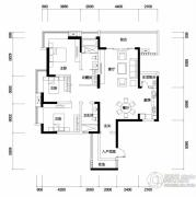 新鸿基悦城3室2厅1卫140平方米户型图