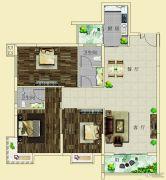 上海花园・新外滩3室2厅2卫109--112平方米户型图