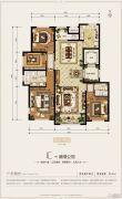 和成�Z园4室2厅2卫165平方米户型图