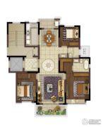 中冶盛世滨江3室2厅2卫130平方米户型图