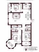 花香漫城3室2厅2卫140平方米户型图