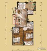 山水华庭2室2厅2卫109平方米户型图