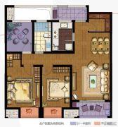 万科城3室2厅1卫104平方米户型图