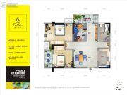 阳光100凤凰街2室2厅1卫77平方米户型图