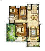 丽景湾华庭3室2厅1卫112平方米户型图