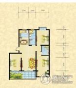 维多利亚花园小区3室2厅2卫127平方米户型图