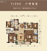 碧桂园・桃园里5室2厅4卫270平方米户型图