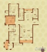 国赫红珊湾3室2厅2卫132平方米户型图
