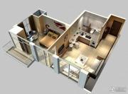 鲁商国奥城1室2厅1卫0平方米户型图