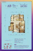 龙湖名景台3室2厅2卫125平方米户型图