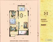 滨江华府2室2厅1卫100平方米户型图