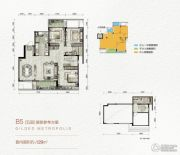 万科金色悦城4室2厅2卫129平方米户型图