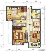 金海天花园2室2厅1卫87平方米户型图