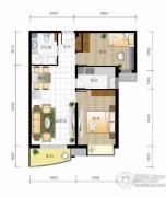 北京城建・世华泊郡2室2厅1卫84平方米户型图