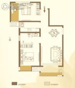 华泰・玉景台2室2厅1卫92平方米户型图