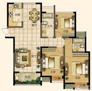天润国际花园3室2厅2卫135平方米户型图