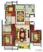 银亿东城3室2厅2卫113平方米户型图