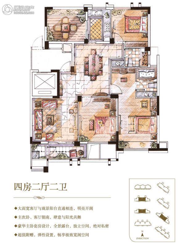 > 长江国际朗庭户型图