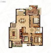 冠城大通蓝湾3室2厅1卫127平方米户型图