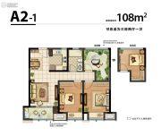 新城湾语城3室2厅1卫108平方米户型图