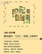 碧桂园・翡翠山3室2厅2卫123平方米户型图
