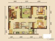 龙湖花千树2室1厅1卫69平方米户型图