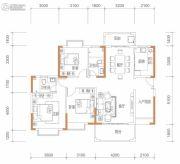 保华铂郡3室2厅2卫124平方米户型图