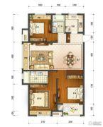 保利中央公馆3室2厅2卫125平方米户型图