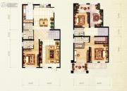 红木林4室2厅4卫202平方米户型图